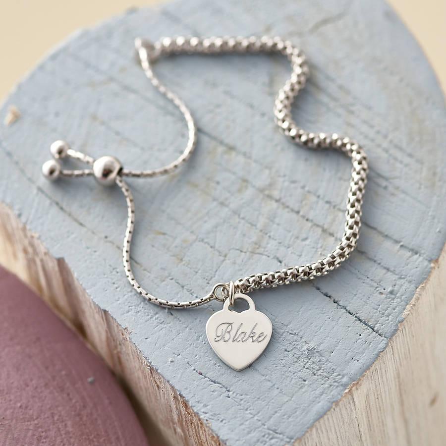 79293cf2341b6 Personalised Sterling Silver Charm Friendship Bracelet   Hurleyburley